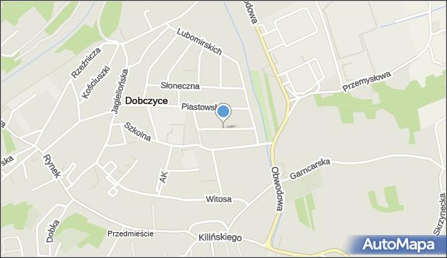 Dobczyce, Zacisze, mapa Dobczyce