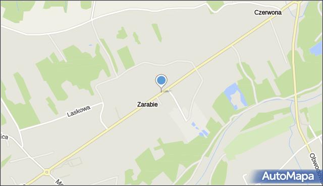 Dobczyce, Zarabie, mapa Dobczyce