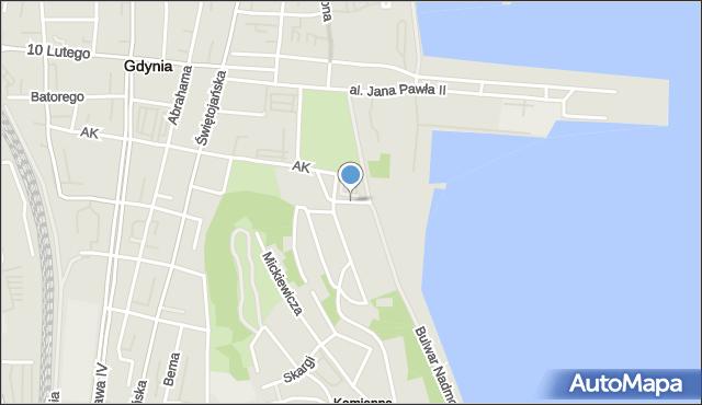 Gdynia, Zawiszy Czarnego, mapa Gdyni