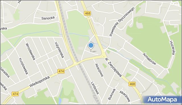 Gdynia, Zawackiego Stanisława, ks., mapa Gdyni