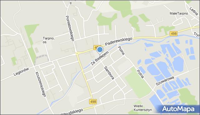 Grudziądz, Za Basenem, mapa Grudziądza