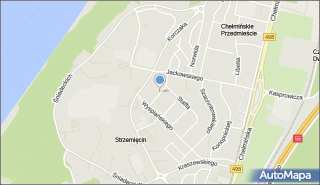 Grudziądz, Zamenhofa Ludwika, dr., mapa Grudziądza