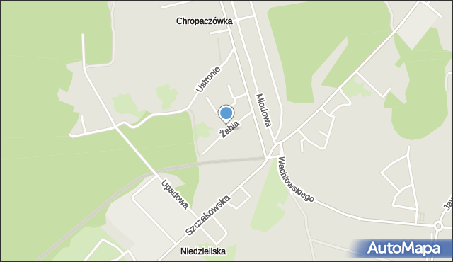 Jaworzno, Żabia, mapa Jaworzno