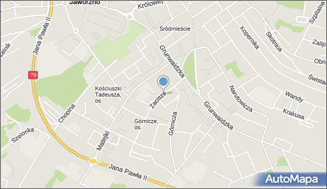 Jaworzno, Zacisze, mapa Jaworzno
