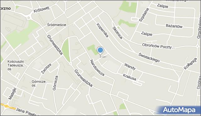 Jaworzno, Zagłoby Jana Onufrego, mapa Jaworzno