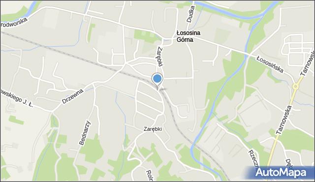 Limanowa, Zarębki, mapa Limanowa