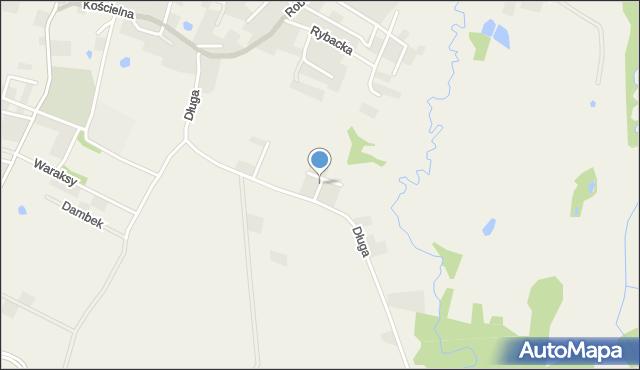 Luzino, Zakątna, mapa Luzino