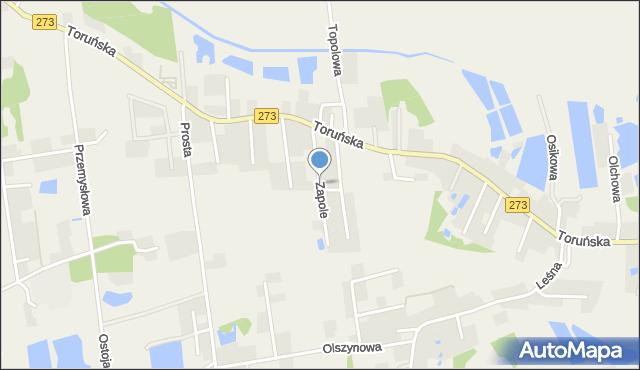 Mała Nieszawka, Zapole, mapa Mała Nieszawka