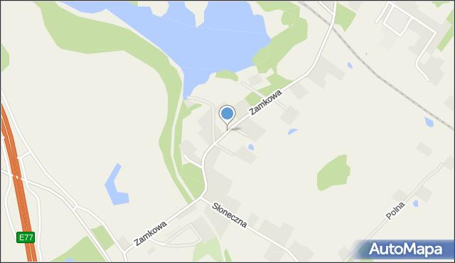 Małdyty, Zamkowa, mapa Małdyty