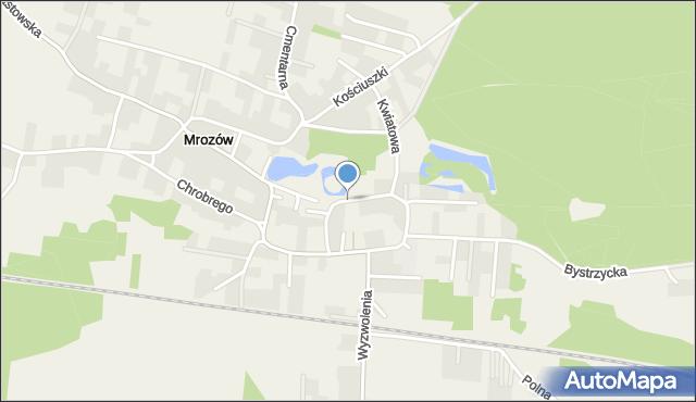 Mrozów, Zamkowa, mapa Mrozów