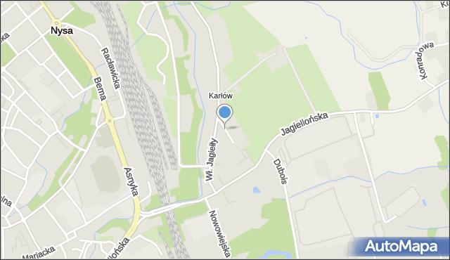 Nysa, Zagłoby Jana Onufrego, mapa Nysy