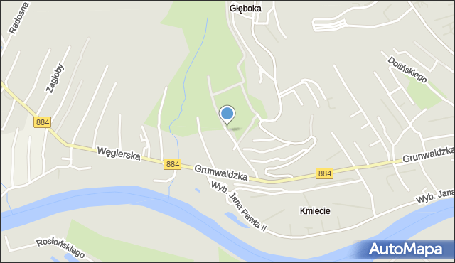 Przemyśl, Zachariasiewicza Jana, mapa Przemyśla