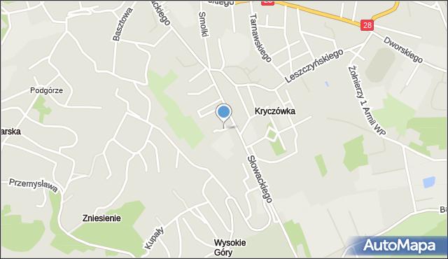 Przemyśl, Zaleskiego Bohdana, mapa Przemyśla