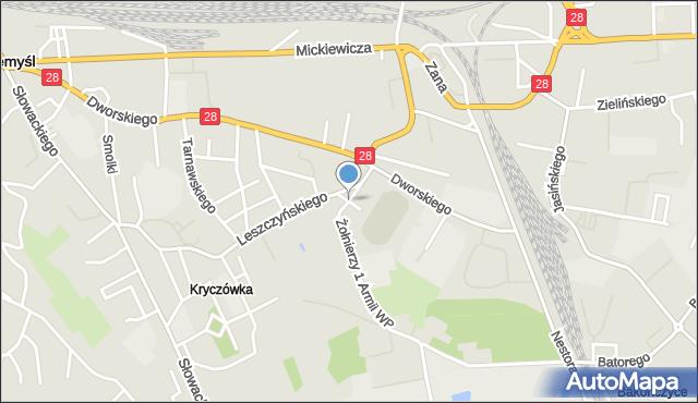 Przemyśl, Zamenhofa Ludwika, dr., mapa Przemyśla