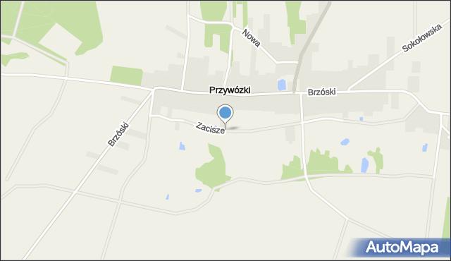 Przywózki, Zacisze, mapa Przywózki