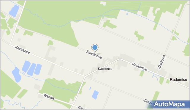 Radom, Zawilcowa, mapa Radomia