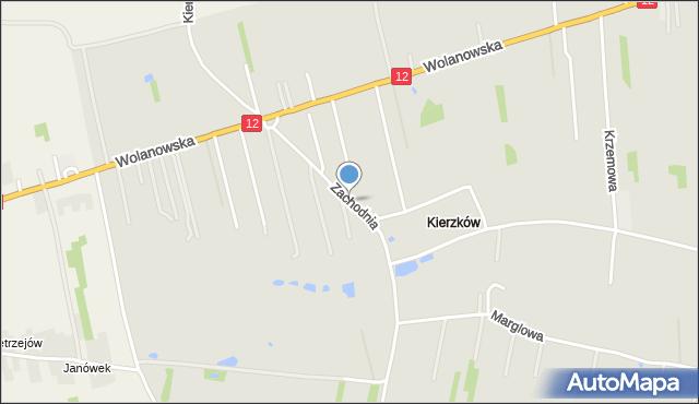 Radom, Zachodnia, mapa Radomia