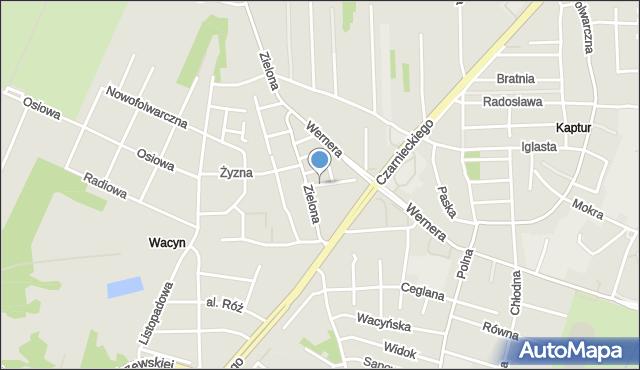 Radom, Zajęcza, mapa Radomia