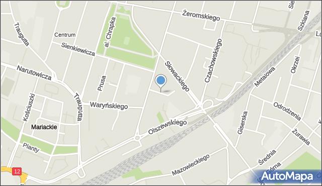 Radom, Zacisze, mapa Radomia