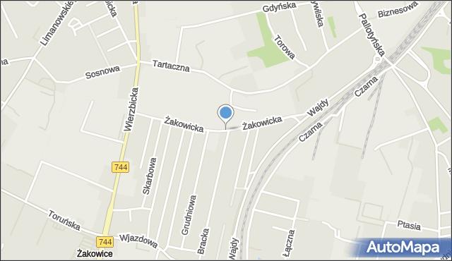 Radom, Żakowicka, mapa Radomia