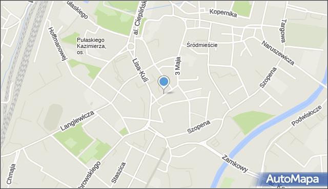 Rzeszów, Zamkowa, mapa Rzeszów