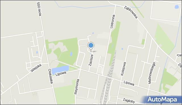 Sokołów Podlaski, Zacisze, mapa Sokołów Podlaski