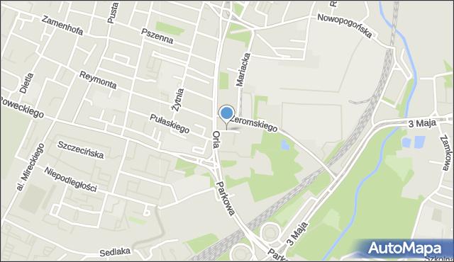 Sosnowiec, Zakątek, mapa Sosnowca