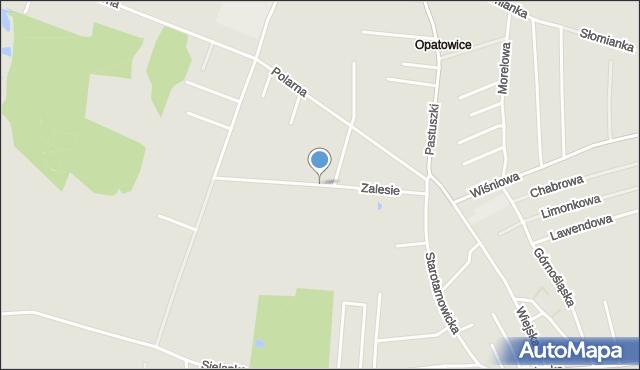 Tarnowskie Góry, Zalesie, mapa Tarnowskie Góry