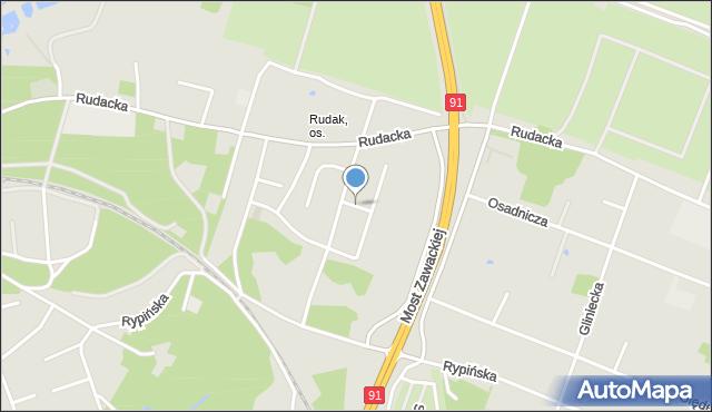 Toruń, Zagłoby Jana Onufrego, mapa Torunia