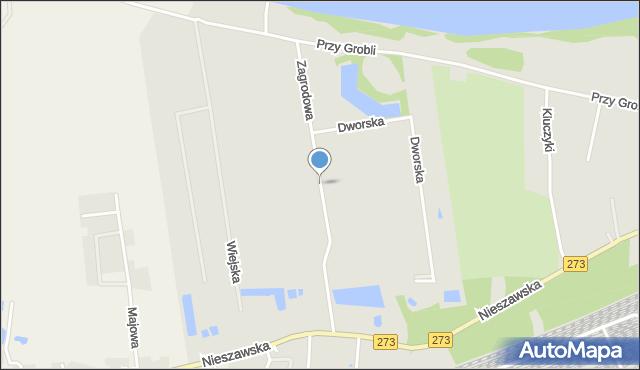 Toruń, Zagrodowa, mapa Torunia