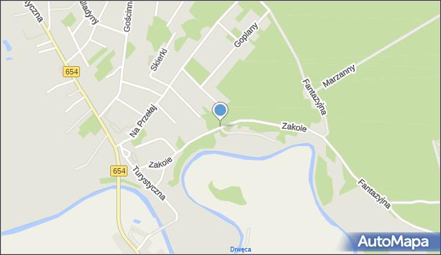 Toruń, Zakole, mapa Torunia
