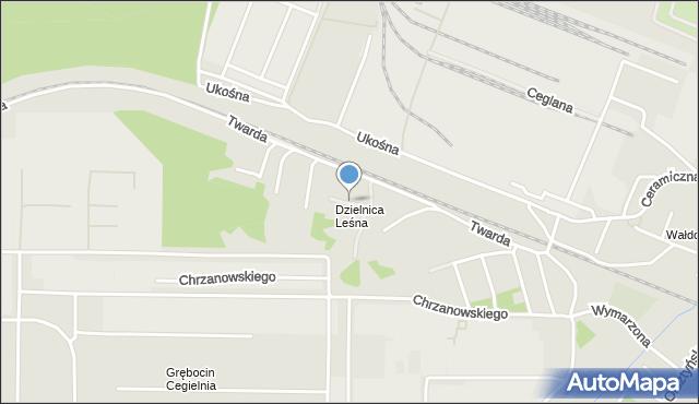Toruń, Zakręt, mapa Torunia