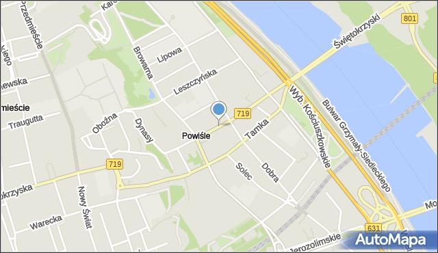 Warszawa, Zajęcza, mapa Warszawy