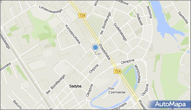 Warszawa, Zaniemyska, mapa Warszawy