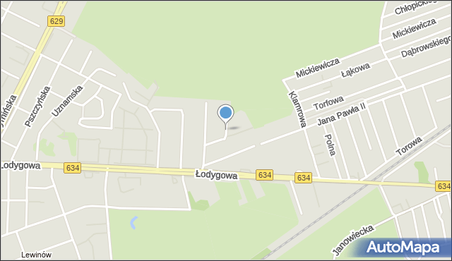 Warszawa, Zadroże, mapa Warszawy