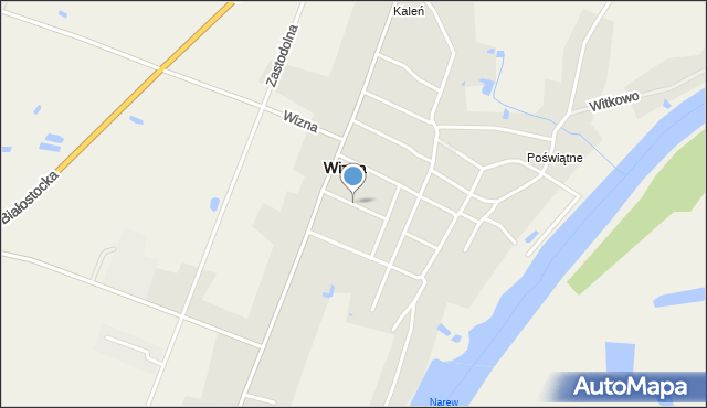 Wizna, Żabia, mapa Wizna