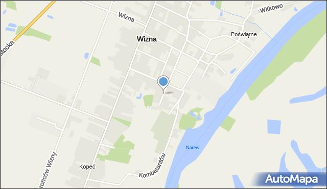 Wizna, Zamkowa, mapa Wizna