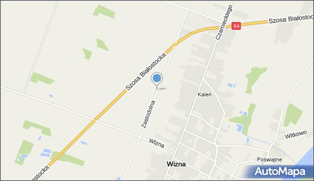 Wizna, Zastodolna, mapa Wizna