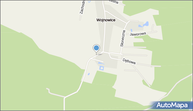 Wojnowice gmina Miękinia, Zamkowa, mapa Wojnowice gmina Miękinia