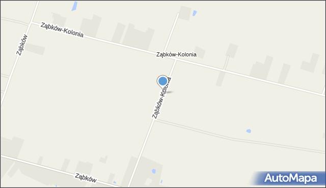 Ząbków, Ząbków-Kolonia, mapa Ząbków