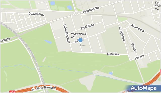 Zabrze, Zabłocie, mapa Zabrza