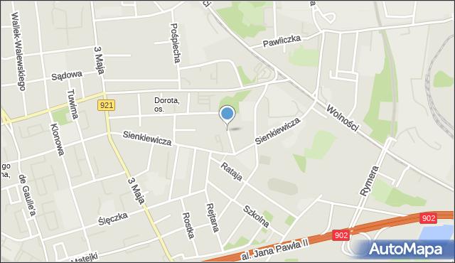 Zabrze, Zamoyskiego Jana, hetm., mapa Zabrza