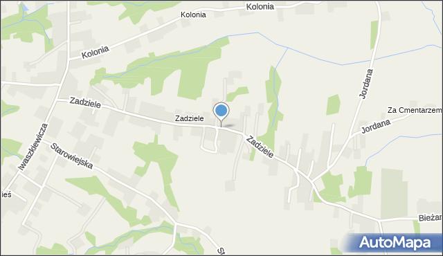 Zakliczyn gmina Siepraw, Zadziele, mapa Zakliczyn gmina Siepraw