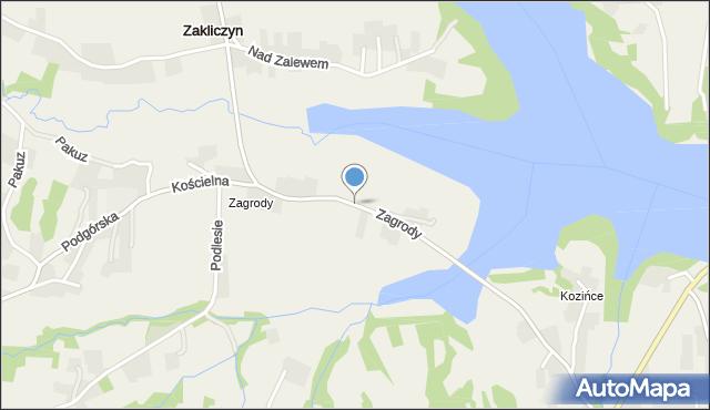 Zakliczyn gmina Siepraw, Zagrody, mapa Zakliczyn gmina Siepraw