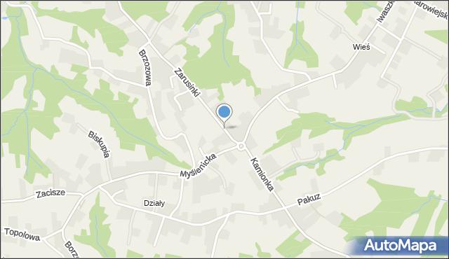 Zakliczyn gmina Siepraw, Zarusinki, mapa Zakliczyn gmina Siepraw