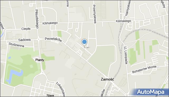 Zamość, Zaremby Tadeusza, mapa Zamościa