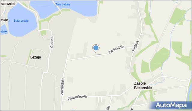 Zasole Bielańskie, Zachodnia, mapa Zasole Bielańskie