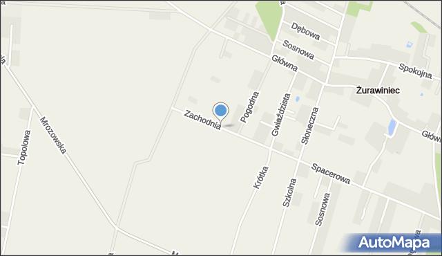 Żurawiniec gmina Miękinia, Zachodnia, mapa Żurawiniec gmina Miękinia