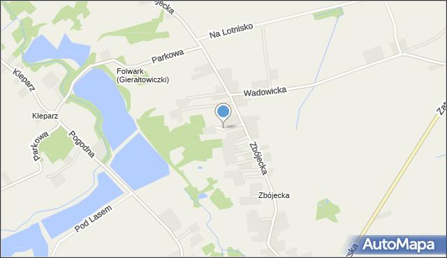 Gierałtowice gmina Wieprz, Zbójecka, mapa Gierałtowice gmina Wieprz