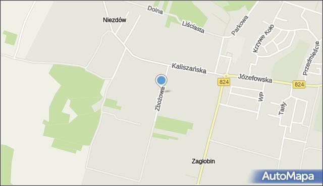Opole Lubelskie, Zbożowa, mapa Opole Lubelskie